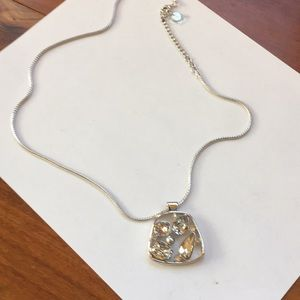TOUCHSTONE SWAROVSKI CRYSTAL PENDANT NECKLACE NWOT